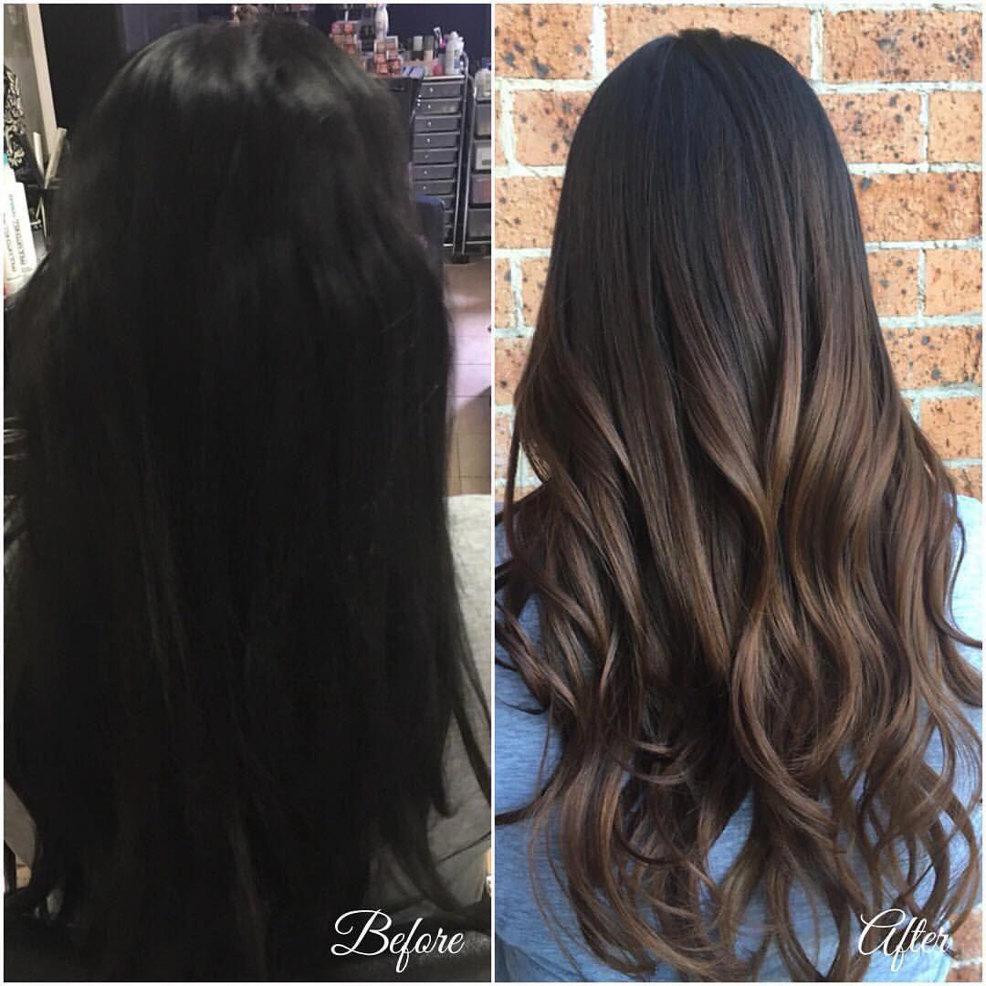 Subtle Balayage Dark Hair Amaya Hairbyamaya On Instagram Joicoaustralianz Joicoausnz Hairjoi Balayage Hair Dark Hair Contouring Black Hair Balayage