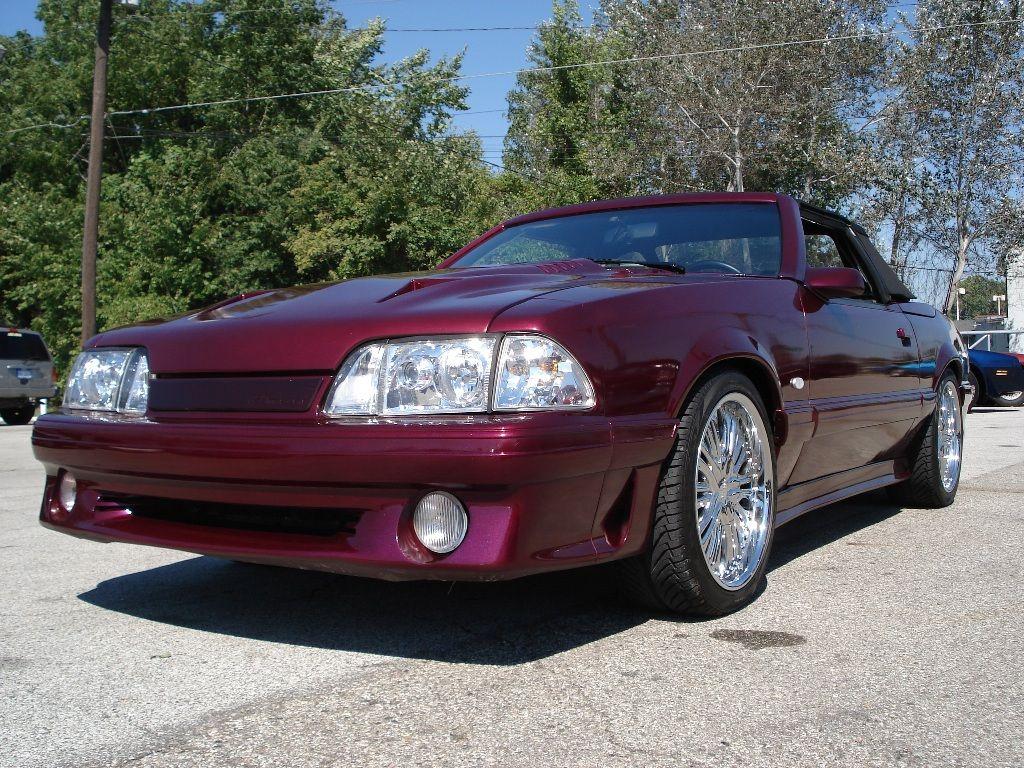Mclaren mustang convertible maroon purple 1987 mustang asc mclaren