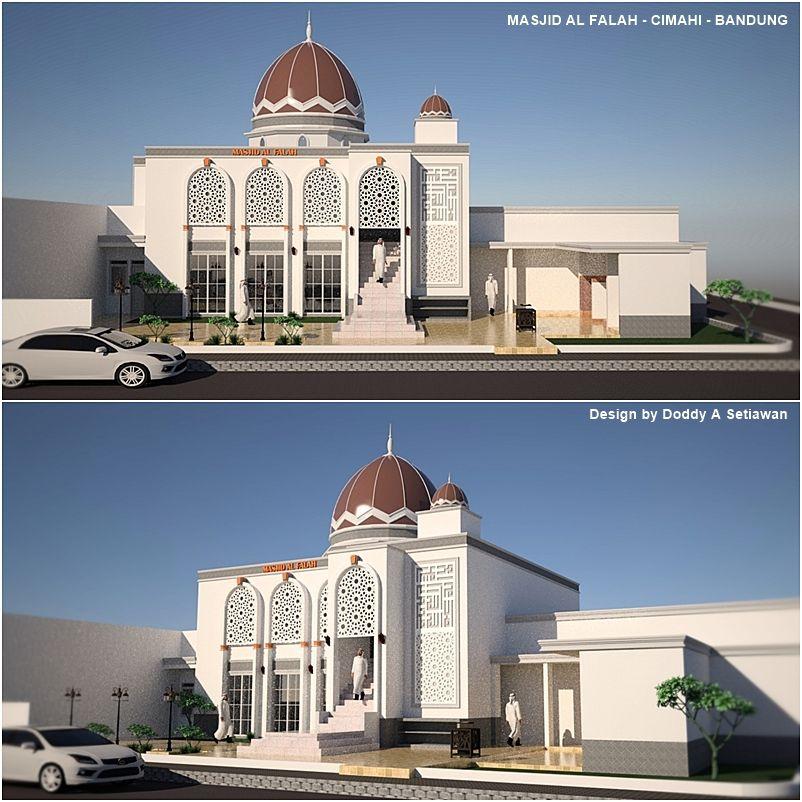 Hasil Gambar Untuk Desain Exterior Mushola Arsitektur Masjid Arsitektur Desain