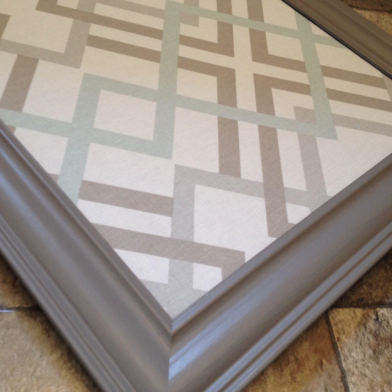 large 16x20 u0026 24x36 framed bulletin board neutrals gray aqua taupe white