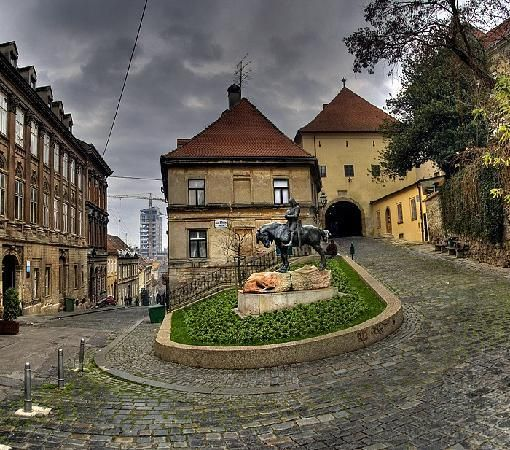 Gornji Grad Upper Town Zagreb Archway On The Right Leads You To The Stone Gate Croatia Places Zagreb Croatia