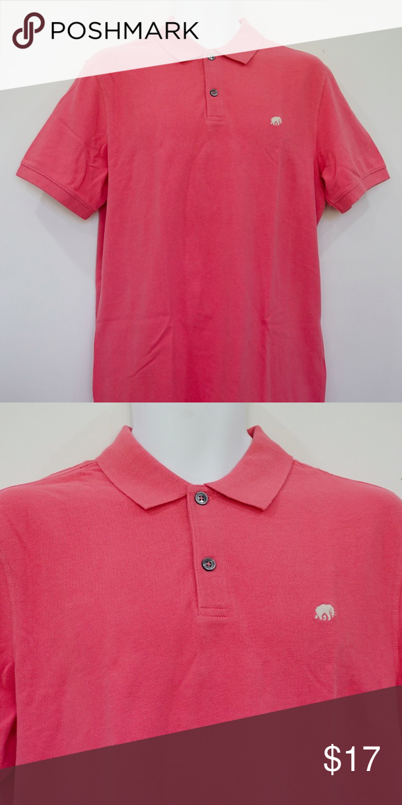 d57006c8 Banana Republic Dark Pink Pique Polo Shirt Signature elephant embroidery on  left chest 2-button collar Short sleeves 100% Cotton Made in Pakistan Banana  ...
