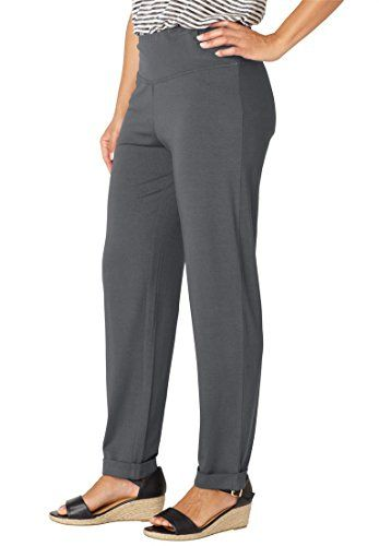 a0d2946ff49 Womens Plus Size Travel Knit Pants Slate1X     You can get additional  details at the image link.