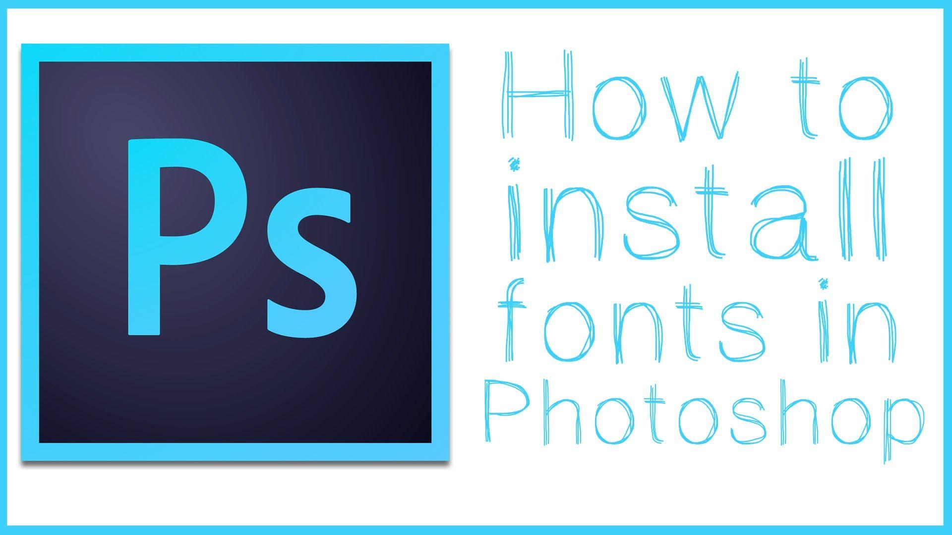 Install font photoshop