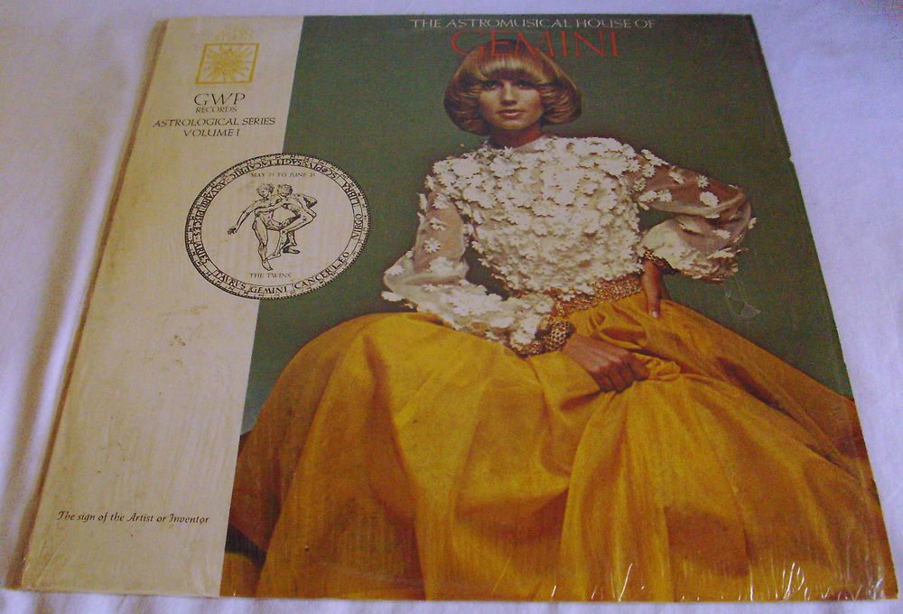 THE ASTROMUSICAL HOUSE OF GEMINI 1969 GWP LP W/CARROLL RIGHTER BOOKLET #ClassicalPop