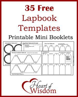 free lapbook templates homeschooling pinterest lap book