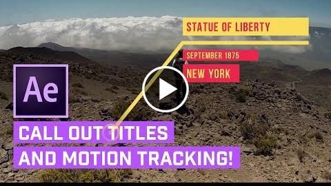 Call Out TITLES After Effects + AUTO Motion Tracking  http://videotutorials411.com/call-out-titles-after-effects-auto-motion-tracking/  #Photoshop #adobe #lightroom #graphicdesign #photography