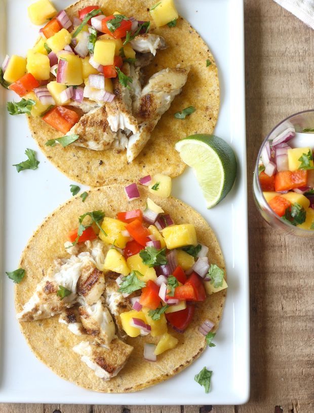 Thai Grilled Fish Taco With Mango Salsa By Seasonwithspice Com