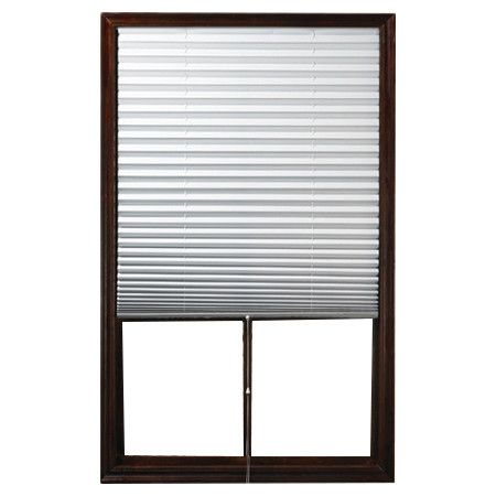 """Found it at Wayfair - 1 2 3 Pleated Shade in White - SALE PRICE THRU 3/31/14- $28.99 ; Reg Price - $34.00  Dimensions (can be trimmed 9"""" total from Left to Right) - 75"""" H x 48"""" W x 1"""" D"""