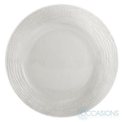 Megara Charger All Occasions Party Rental Clear Glass Charger Plates Glass Charger Glass Charger Plates
