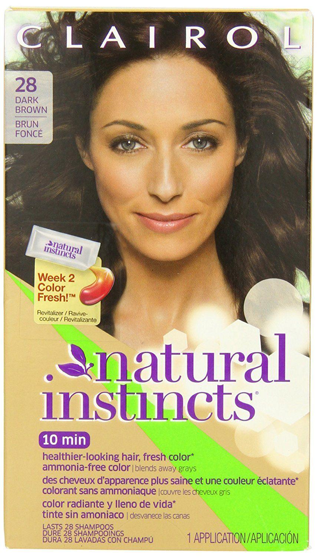 Clairol Natural Instincts Haircolor Nutmeg Dark Brown 28 Read