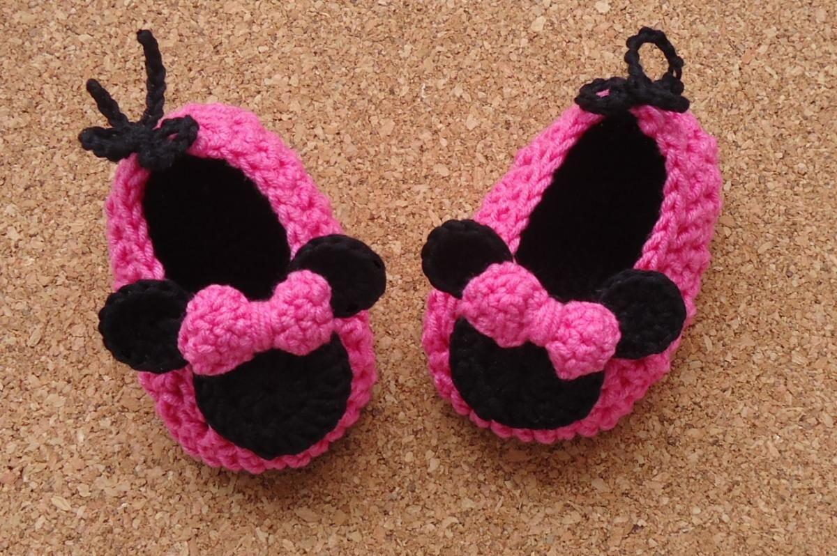 Minnie Mouse Crochet Shoes | Schuhe Häkeln | Pinterest ...