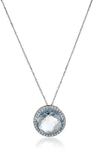 Suzanne Kalan Emerald-Cut Blue Topaz Pendant Necklace SfAjEw