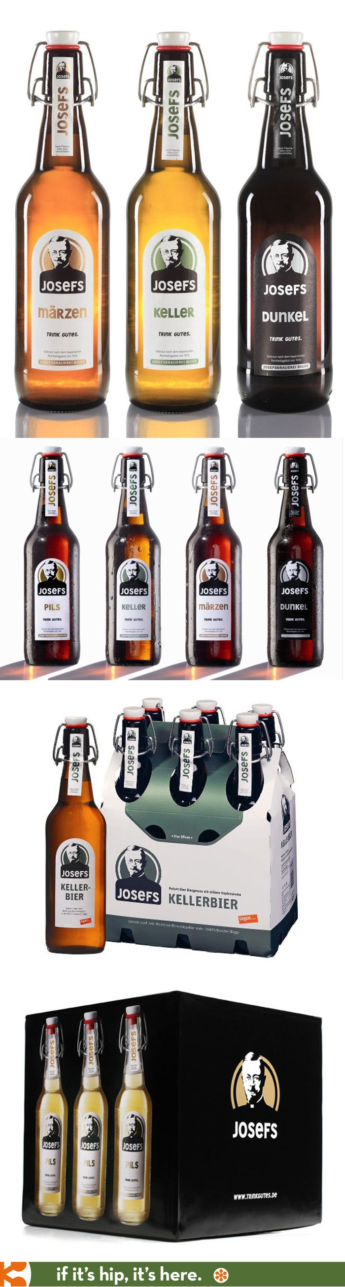 Josefs Beer packaging | Packaging Design Bottles and Cans ...