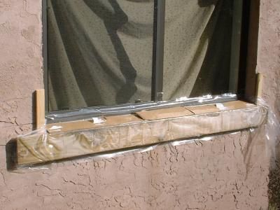 Photos That Show Process Of Pouring A New Concrete Window Sill Window Sill Exterior Window Sill Concrete Block Walls