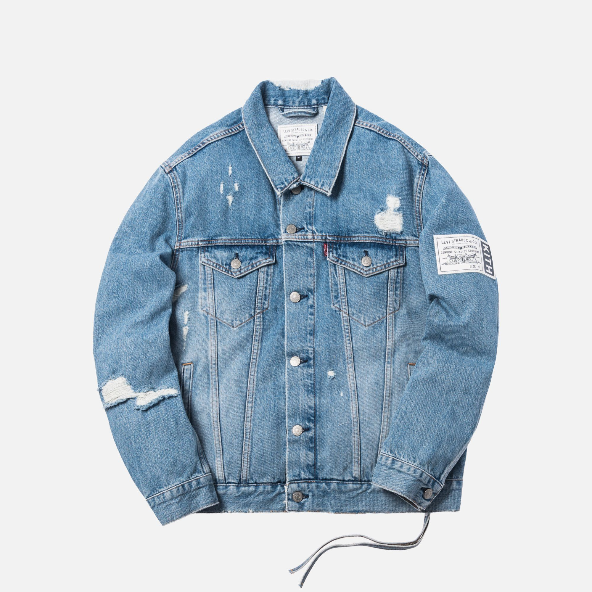 e788901d x Levi's Thrashed Trucker Jacket - Light Blue - XXS in 2019 | Agnies ...