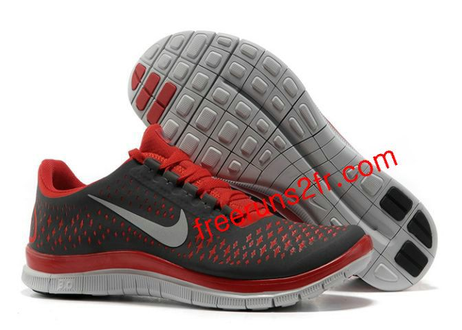 Nike Free 3.0 V4 Femme Chaussures De Course Gris Fonc [Chaussures Nike Free  Run 1121