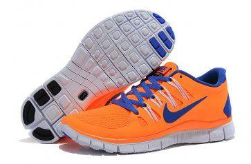 sports shoes 196e7 f74c1 Nike Free 5.0+ Womens Orange Blue Running Shoes