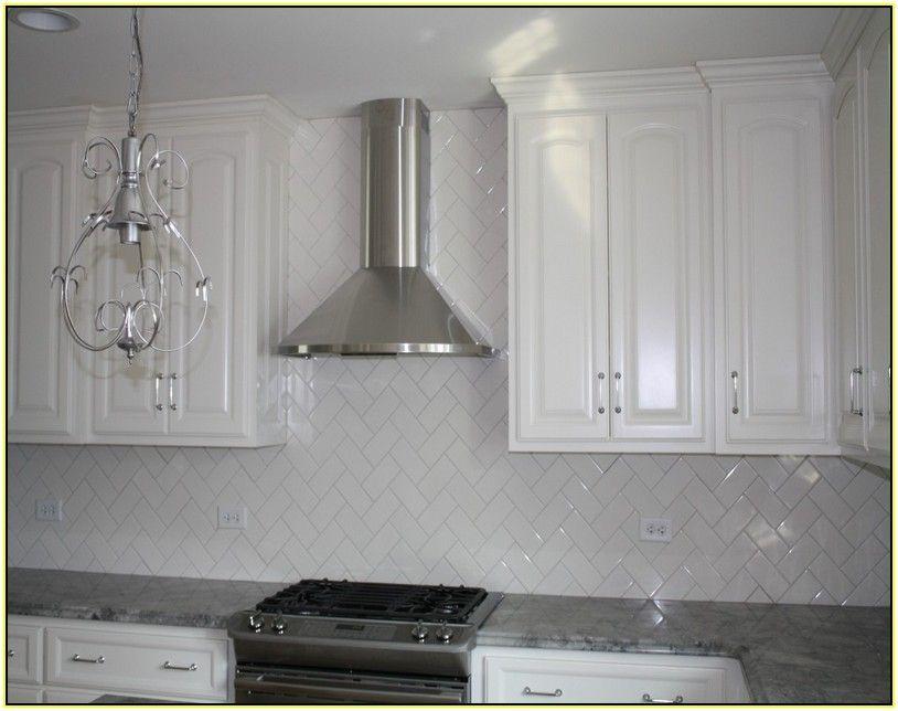 white subway tile backsplash herringbone show david in. Black Bedroom Furniture Sets. Home Design Ideas