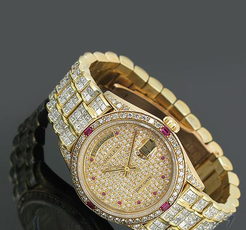 Rolex President Day Date Diamond Watch