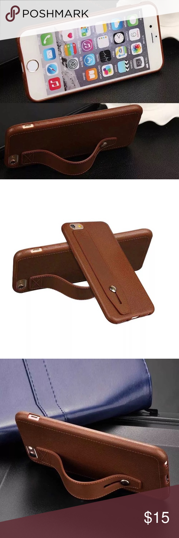 Brown Iphone 7 Plus Case Faux Leather Look Design Phone Case In A Beautiful Tan Brown Color Case Is Sunglasses Case Leather