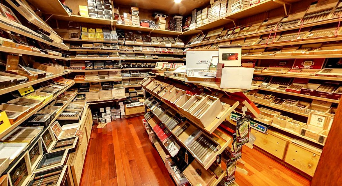 Cigar Humidity easily maintained with walk in humidor at