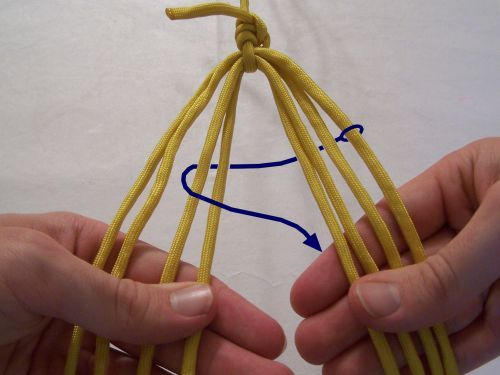 t j potter, sling maker instructions for an 8 strand 5 strand flat braid 3 ways to braid string wikihow