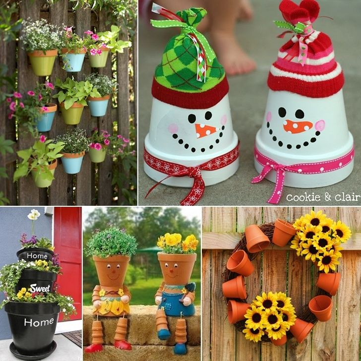 Pin about Decorated flower pots, Clay flower pots and Clay ...