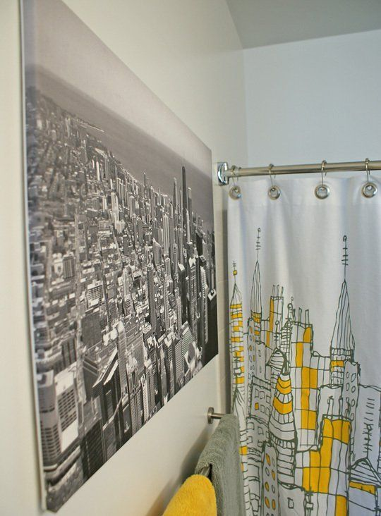 Byron Nate S Nature Sleek Urban Loft Bathroom Themes Restroom