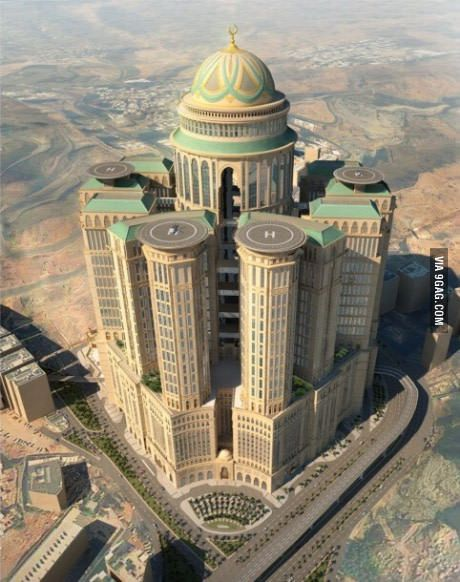 In 2017 The World S Largest Hotel Is Going To Open In Mecca Mecca Hotel Mecca City Sky
