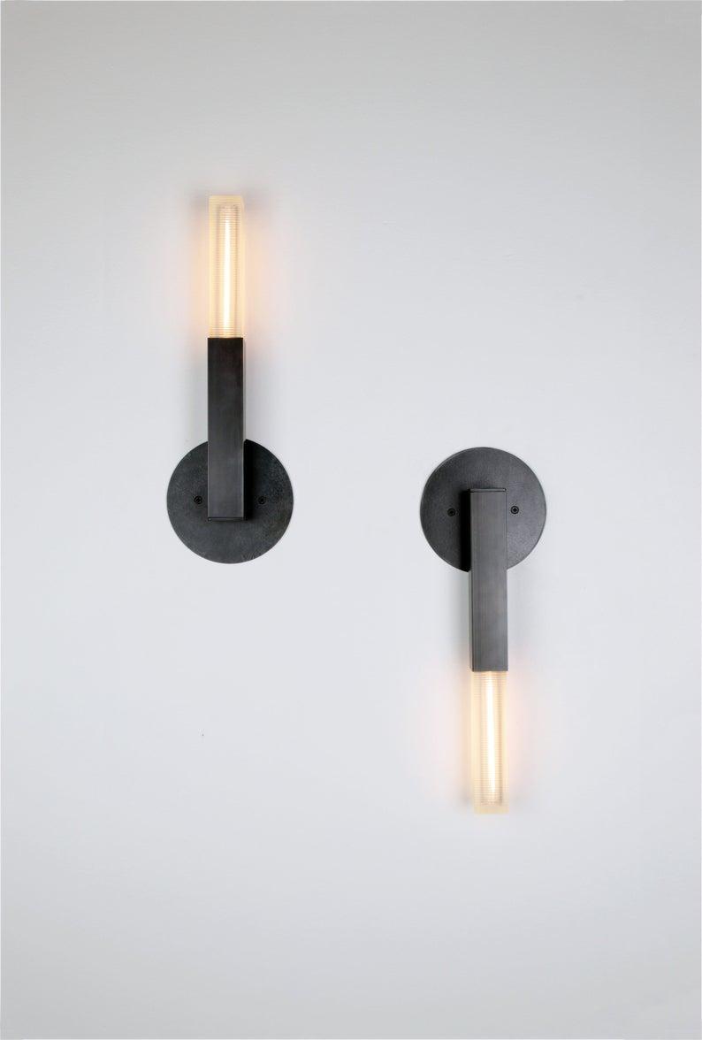 Contemporary Brass Post Sconce Scandinavian Wall Light Etsy In 2020 Scandinavian Wall Lighting Sconces Wall Lights