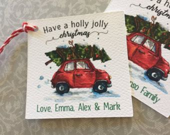 Have a holly jolly christmas gift tags