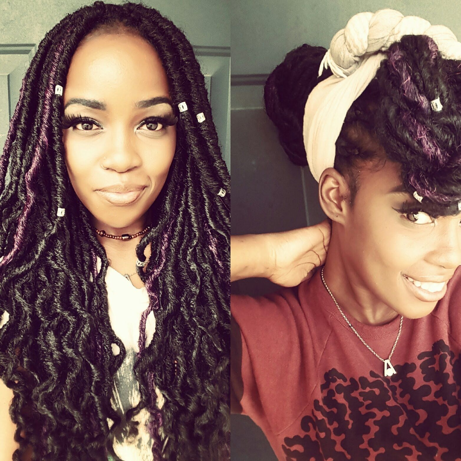 9 Ways To Slay Your Faux Goddess Locs Youtube Hair Styles I