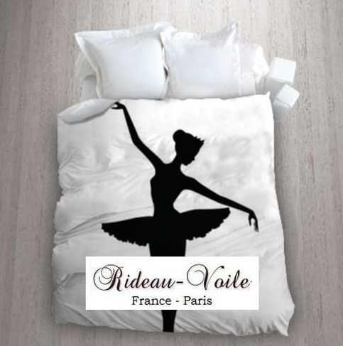 housse de couette tissu imprim ballerine danseuse toile housse de coue tissu ameublement. Black Bedroom Furniture Sets. Home Design Ideas