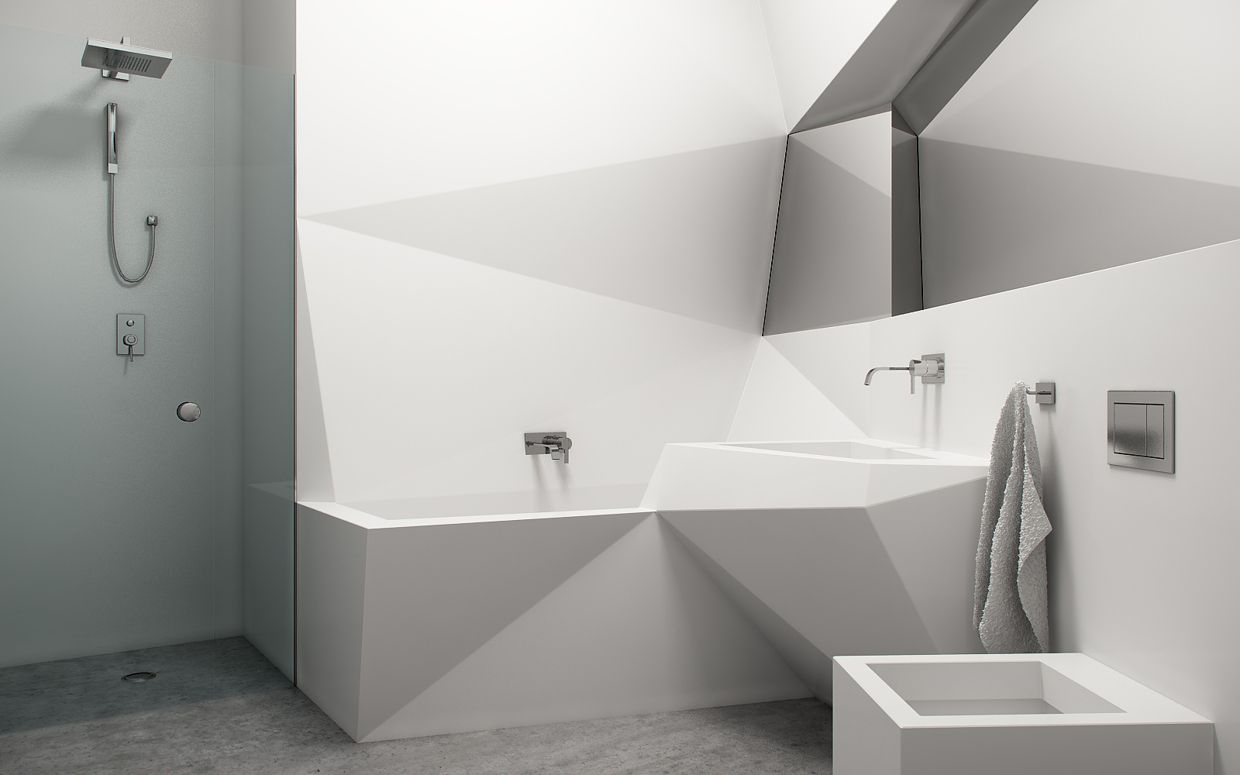 Futuristic Bathrooms Studio Apartment Design Inspiration With Futuristic Interior Style