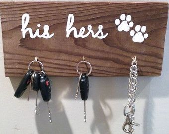 Awesome His Hers Pet Distressed Wood Sign ~ Key Hook And Leash Holder By Heddyj On  Etsy So My Future Little Family Good Looking