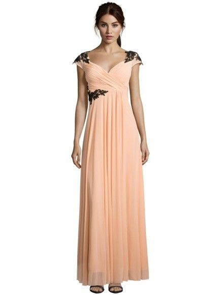 LUXUAR Abendkleid mit Spitzenbesatz in Rosé online kaufen ...