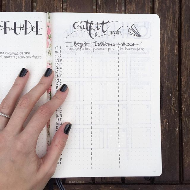 A Cute Idea To Track Your Daily Outfits! | Bullet Journal | Pinterest | Bullet Journal And ...