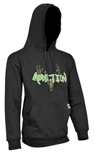 b5b44a7554971 Yukon-Gear-Cotton-Fleece-Addiction-Hoodie-Black-with-Green-Logo-Medium