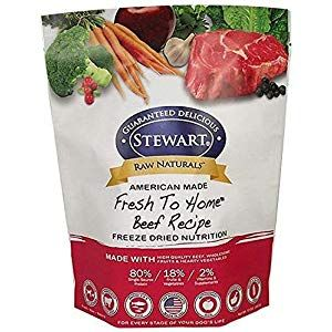 Stewart Raw Naturals Freeze-Dried Dog Food, Beef, 12 Ounce, 4 Pack #flaxseedmealrecipes
