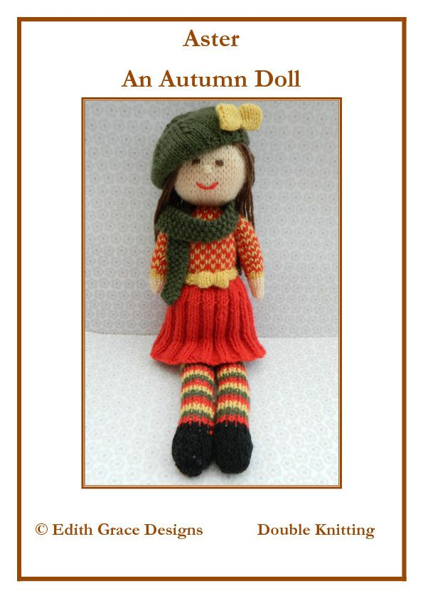 Doll Knitting Pattern Autumn Doll Knit Doll Toy Knitting