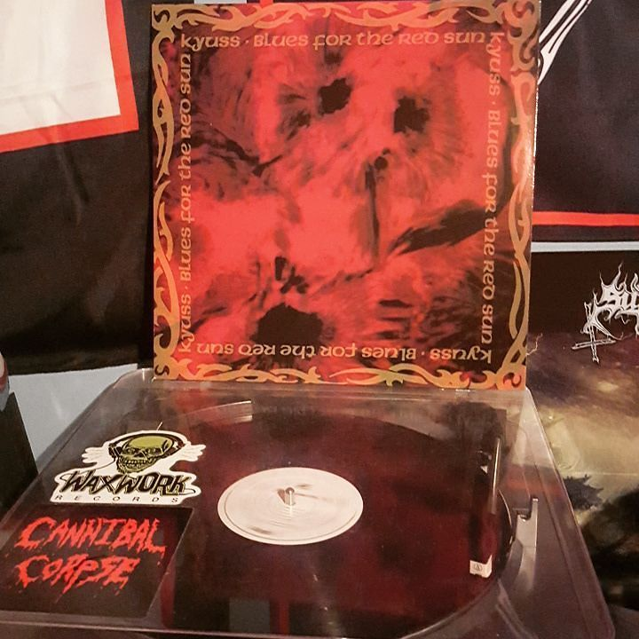 Nowspinning Kyuss Blues For The Red Sun Kyuss Bluesfortheredsun By Scourge Of Vinyl Red Sun Red Blue