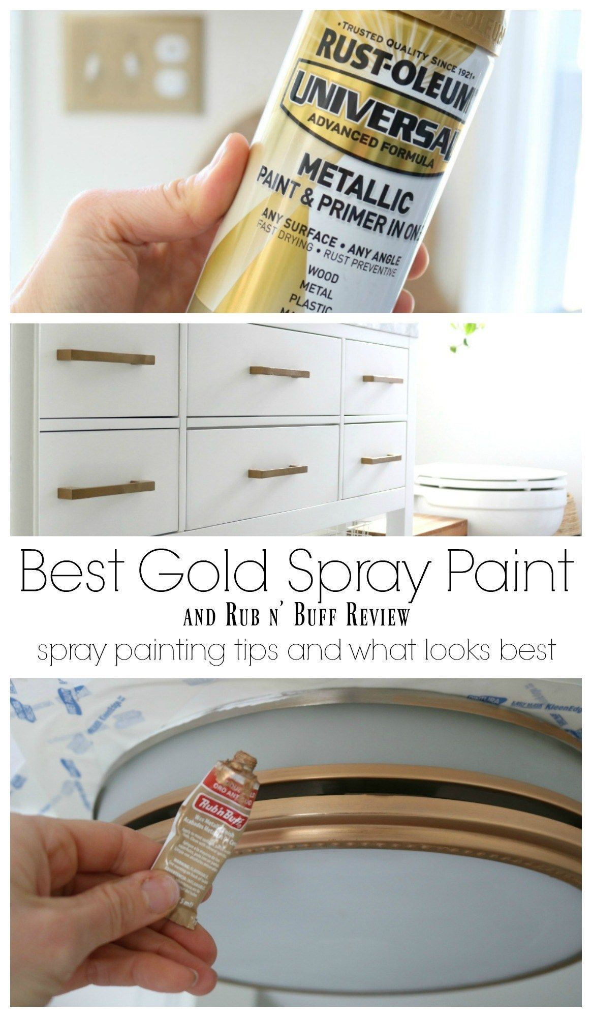 Favorite Spray Paint and Rub n' Buff Experience is part of Spray painting wood furniture, Best gold spray paint, Spray paint furniture, Spray paint tips, Spray paint colors, Spray painting light fixtures -