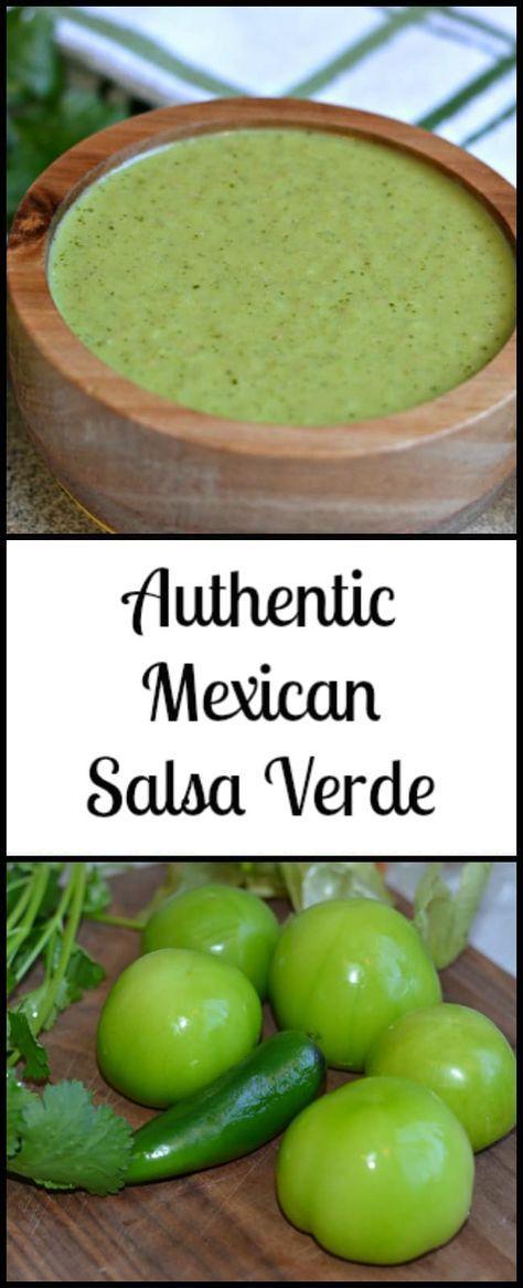 Authentic, Mexican Style Salsa Verde - Better than restaurant salsa #authenticmexicansalsa