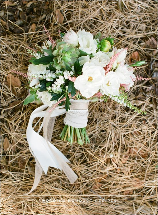 White Pink And Green Wedding Bouquet White Wedding Flowers