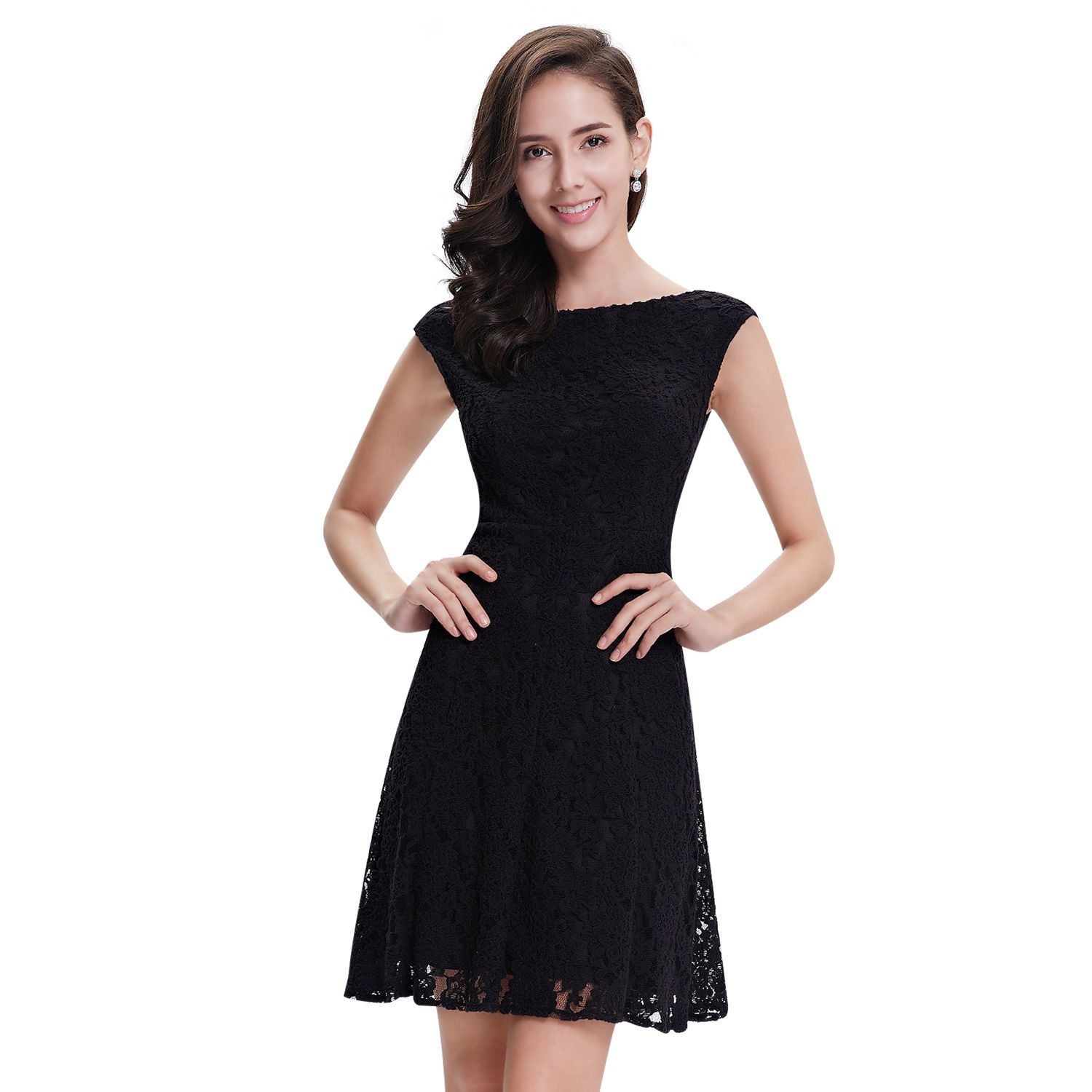 Awesome sleeveless lace casual evening party cocktail short