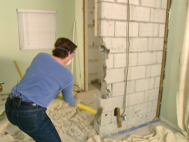 How To Remove A Cinderblock Wall Cinder Block Walls Block Wall Cinder Block