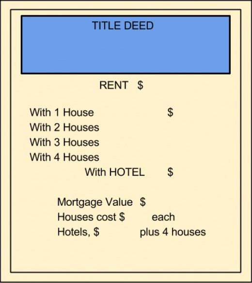 Print Your Own Monopoly Property Cards Monopoly, Gaming and Board - play money template