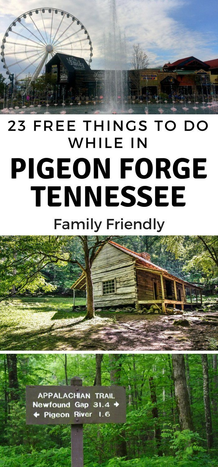 Taking in the Great Smoky Mountains National Park? Make sure to head in to Pigeon Forge and take in the 23 free things to do perfect for the family! #pigeonforge #OurRoamingHearts #gatlinburg #tennessee