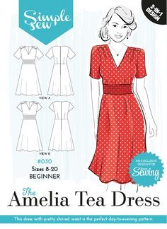free pattern - 30 Amelia Tea dress envelope OL   Sewing Patterns ... 143e100a524